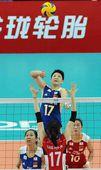 图文:中国女排3-0韩国 张磊起跳扣球