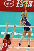 图文:中国女排3-0韩国 曾春蕾一枝独秀