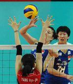 图文:中国女排3-0韩国 马蕴雯推球