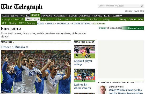 讯报:2012欧洲杯的大黑马已浮出水面,希腊人再次证明他们是那么