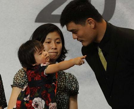 01姚明和女儿