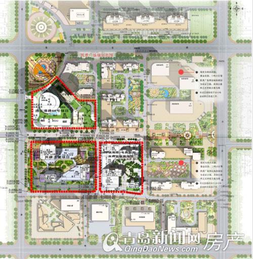 中央商务区三个规划项目总平面图(点击查看大图)