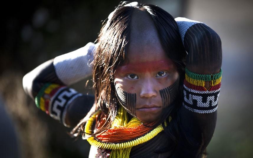 """会议营地的名字为"""" Kari-Oca """",这在图皮―瓜拉尼语里的意思是""""白人的房子""""。摄影:Felipe Dana/AP (英国《每日电讯报》)"""