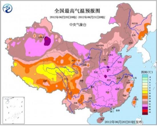 一、重要天气   1.热带风暴泰利影响广东福建浙江   今年第5号强热带风暴泰利(Talim)于20日05时减弱为热带风暴,05时其中心位于我国台湾省澎湖县西南方大约270公里的南海东北部海面上,就是北纬22.2度、东经117.4度,中心附近最大风力有9级(23米/秒),中心最低气压为985百帕。   预计,泰利将以每小时25公里左右的速度向东北方向移动,即将于20日下午到晚上擦过或登陆福建中南部一带沿海,然后继续向东北方向移动,强度缓慢减弱。   2.