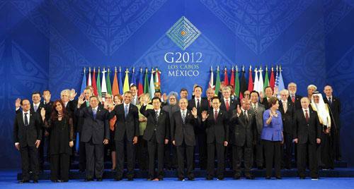 十九届国家领导人合影高清-全球经济面临增长难 新兴经济体影响力待图片