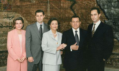 资料图:穆巴拉克家庭照