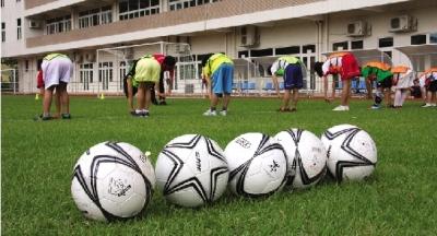 恒大皇马足球学校招生复试。