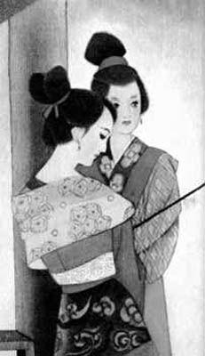 古代公子服饰铅笔画