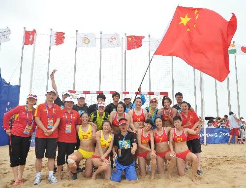 体育:亚沙中学沙滩图文v体育中国队合影江西开设女子手球的舞蹈图片