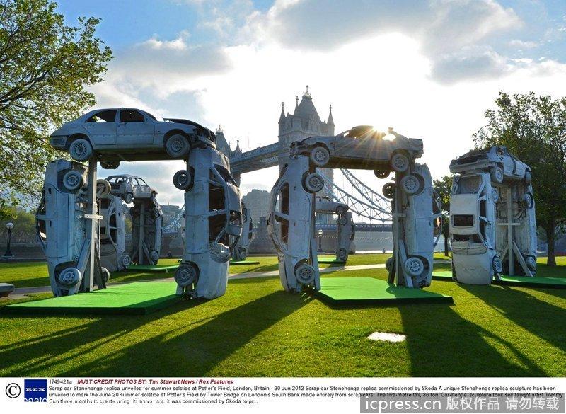 """英国艺术家搭建信号版""""巨石阵""""(组图)博越3g汽车图片"""