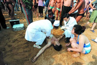 海中呛水外地不幸哮喘溺亡(图)游客症视频图片