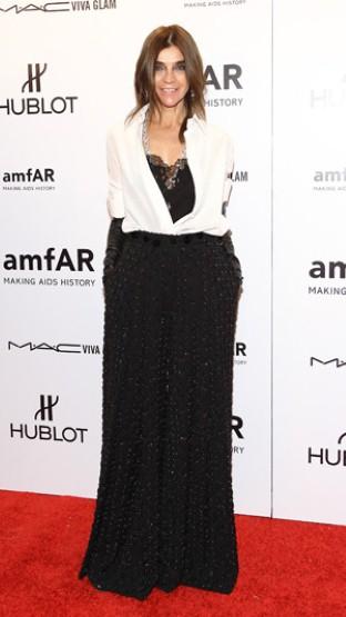Carine Roitfeld少见的用白衬衫穿搭!性感的 Givenchy 2012高级定制礼服优雅性感。