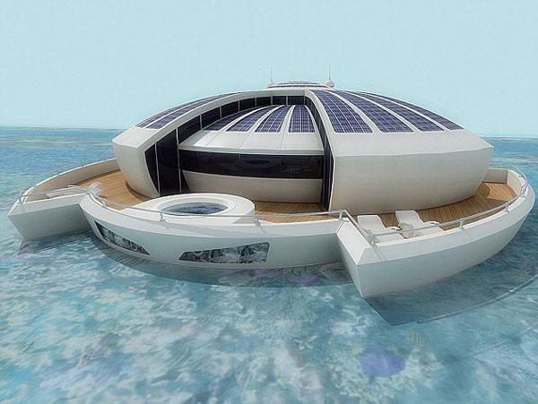 漂浮的度假酒店