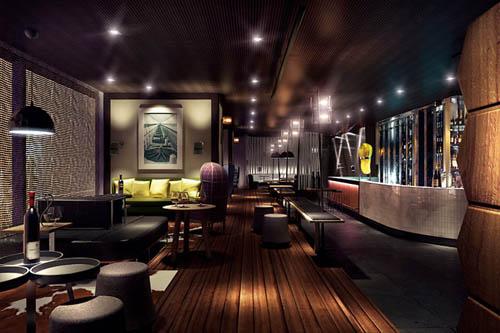 开放式设计、舒适座椅与造型优美的柚木装饰