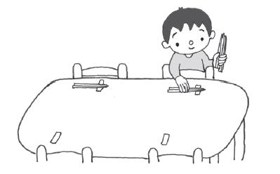 儿童自己吃饭简笔画-宝宝咋提高生活能力