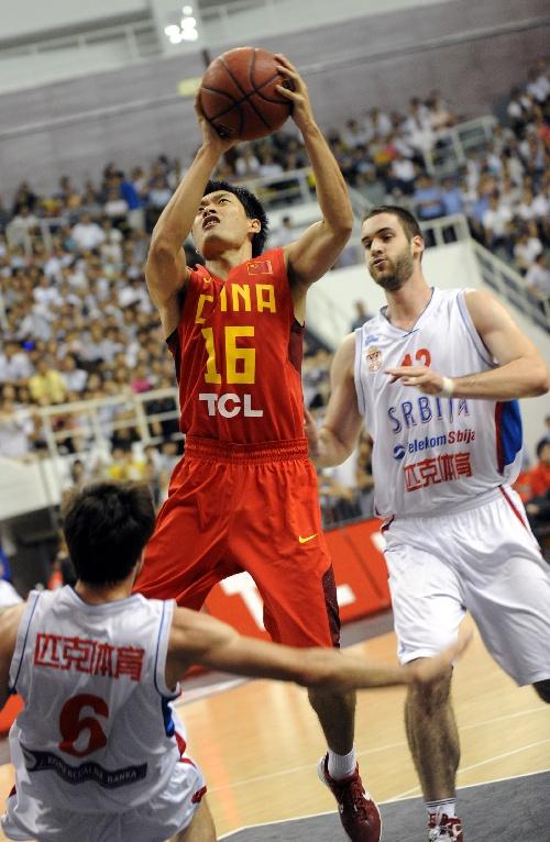 6月29日 男篮热身赛 中国男篮vs塞尔维亚 全场录像