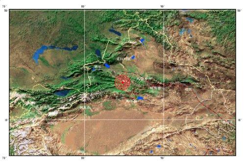 新疆发生6.6级地震 乌鲁木齐震感强烈