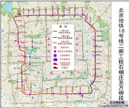 北京地铁十号线规划图