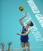 图文:[大奖赛]女排1-3土耳其 惠若琪高点进攻