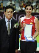 图文:2012世界女排大奖赛 最佳发球内斯里汉