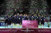 图文:2012世界女排大奖赛颁奖 美国队登顶