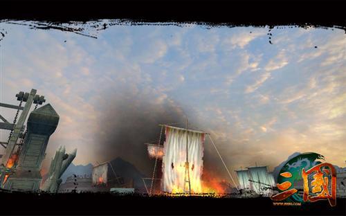赤壁之战的火烧战船