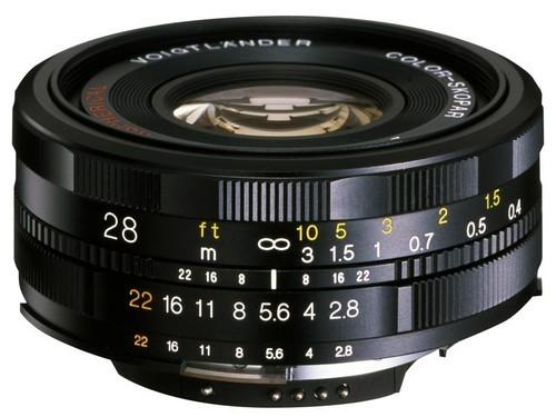 体积轻便  福伦达最新28mm手动拍摄镜头