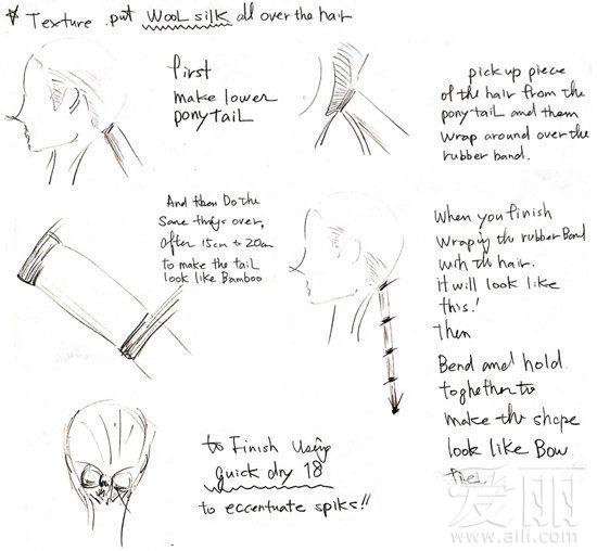 发型师的发型设计diy手绘图