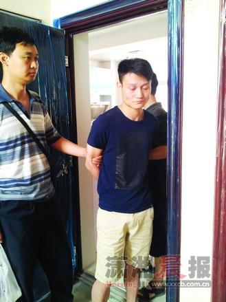 犯罪嫌疑人郭俊在湖北荆门落网。图/长沙市公安局