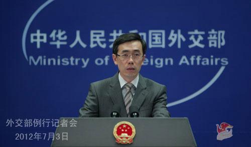 2012年7月3日彩票网上买彩票安全吗,外交部发言人刘为民举行例行记者会