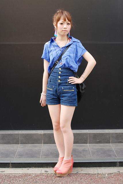 日本街拍中的短裤实用穿搭案例