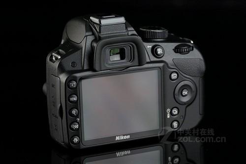 尼康 D3200黑色 背面图