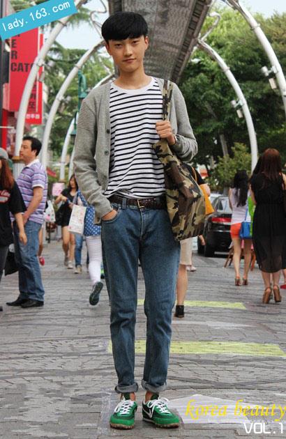 19岁学生波波头可爱感; 男学生波波头; 韩国一周街头达人发型 波波