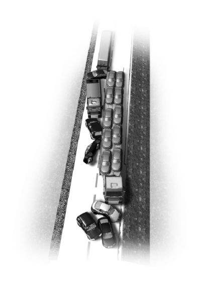 12辆车子撞成一团