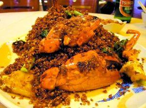 美味蟹肉。