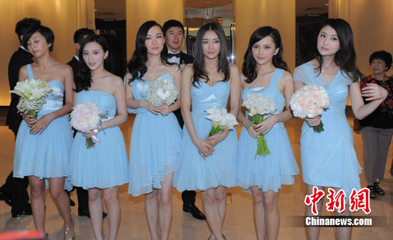 图文:李小璐婚礼群星云集