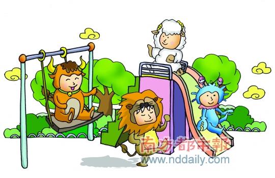 苏州古典园林卡通
