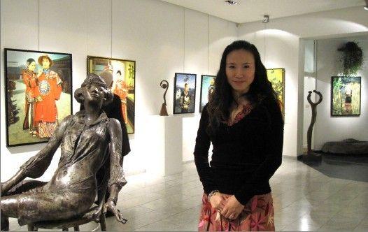 画家王俊英《新四大才女图》-著名油画家王俊英 从童工成长起来的图片