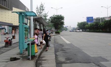 事发公交车站.
