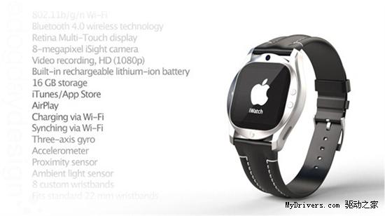 Retina视网膜屏!苹果iWatch概念设计图欣赏