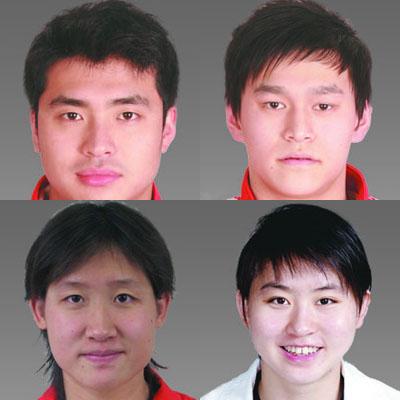 奥运中国游泳队大头照