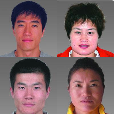 奥运中国田径大头照