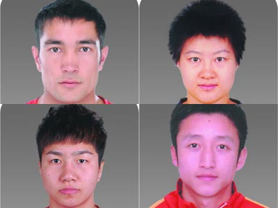 中国奥运拳击队大头照