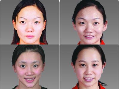 中国奥运花样游泳队大头照