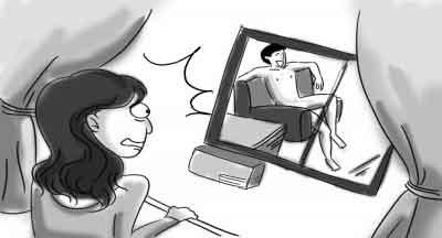 拿相机的人卡通