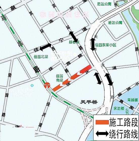 辰昌路至双环路段禁止机动车 东向西通行