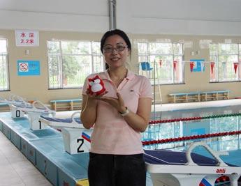 北京体育大学游泳教研室副教授 黄秀凤