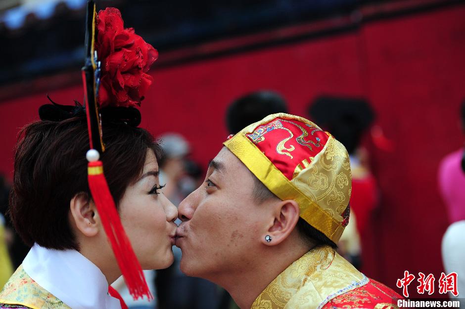 50位满族 格格 集体出嫁 高清组图