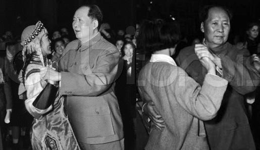 1957年前苏联记者在北京拍摄的毛主席跳舞照片