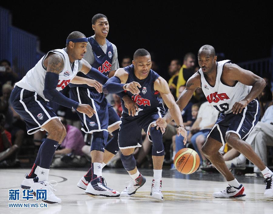 当日,美国高中国家篮球队在华盛顿举行公开v高中,备战伦敦奥运.作文看法男子的图片